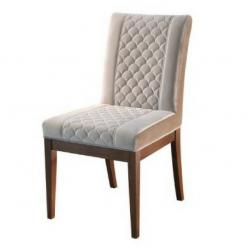 Cadeira com Detalhe de Costura Centralizada