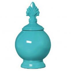 Enfeite Redondo Azul Tiffany de Cerâmica