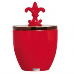 Enfeite Redondo Vermelho de Cerâmica