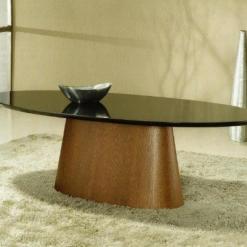 Mesa de Jantar com Base Estilo Cone