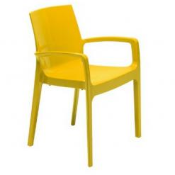 Cadeira com braços amarela