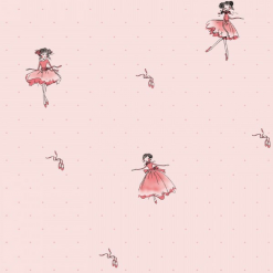 Papel de Parede Bailarina Rosa Para Menina